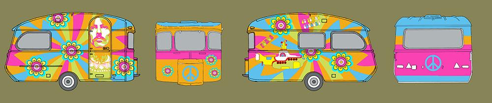 Ontwerp Hippie Caravan voor Parc la Clusure